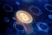 Abstract bitcoin background
