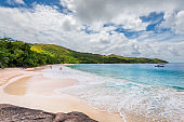 Anse Lazio tropical beach at Praslin island, Seychelles