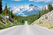 Road Trip in the Rocky Mountains.
