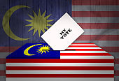 Election in MALAYSIA - voting at the ballot box