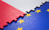 Poland European Union Puzzle Flag