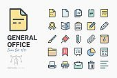 General Office icon set