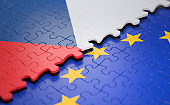 Czech Republic European Union Puzzle Flag