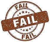 fail brown grunge round vintage rubber stamp