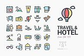 Travel & Hotel icon set 1