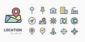Pin Location icon set 2