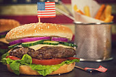 Burger for 4th of July
