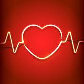 Neon heart frame