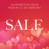 Valentine's Day design for advertising, banners, leaflets and flyers - Illustration