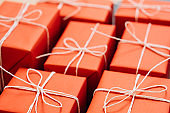 present delivery red gift holiday celebration