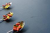 pills capsules spoon medication illness cure