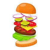 Hamburger ingredients image
