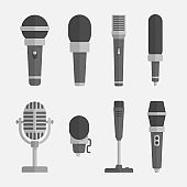 Microphones vector set