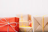 present delivery red craft gift holiday celebrate