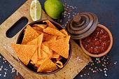 junk fast food eating nacho tortilla chips sauce
