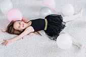 joy girl fooling happy child leisure celebration