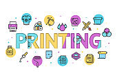 Printing, graphic icons
