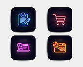Market sale, Online documentation and Rfp icons. Quick tips sign. Vector