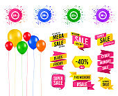 Sale discount icons. Special offer price signs. Vector