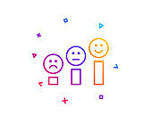Customer satisfaction line icon. Positive feedback sign. Vector