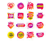 Sale banner templates. Special offer tags. Vector