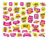 Sale icons. Best choice, price symbols. Vector