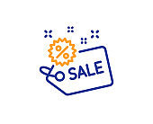 Sale tag line icon. Shopping discount sign. Vector
