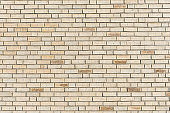 Beige brick wall background