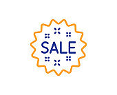 Sale line icon. Shopping discount sign. Vector