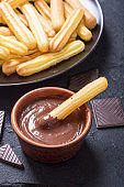 Spanish and mexican dessert churros