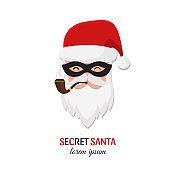 Secret Santa Christmas illustration