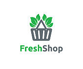 Fresh shop vector icon