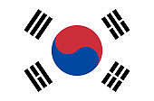 south korean national flag, official flag of south korea accurate colors