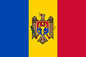 Moldovan national flag. Official flag of Moldova, accurate colors, true color