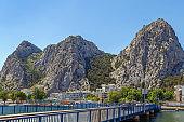 View of Cetina river in Omis, Croatia