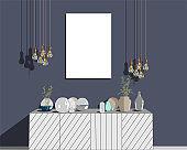 Sketch interior design vector illustration