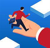 Help the businessman go higher
