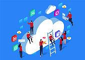 Network cloud communication