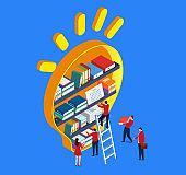 Inspiration and bookshelf