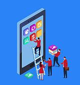 Mobile APP data construction