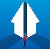 The door to success opens for businessmen