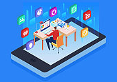 Online digital online learning and training