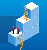 Businessmen lose the upward ladder