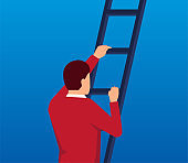 People climbing the ladder
