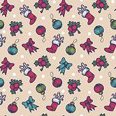 vintage seamless Christmas pattern