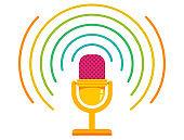 vector illustration of retro microphone