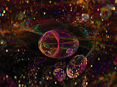 fractal abstract color, digital background, creative design, disco chaos