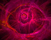 abstract digital fractal, fantasy design, disco, party