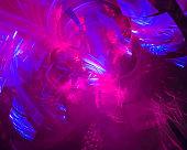 abstract digital fractal, fantasy design, disco, party