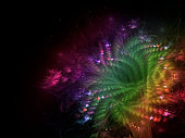 fractal abstract flower beautiful